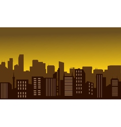 Silhouette of city at the noon vector