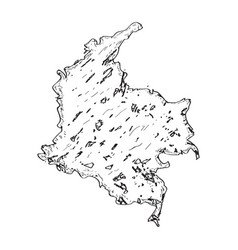 sketch of a map of colombia vector image