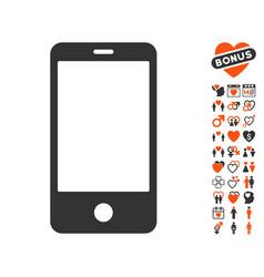 Smartphone icon with dating bonus vector