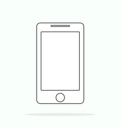 smartphone line outline style vector image