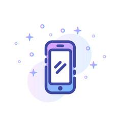 Smartphone linecolor vector