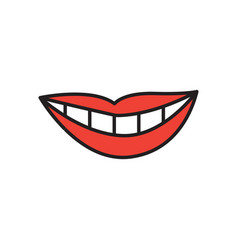 smirk expression icon design template isolated vector image