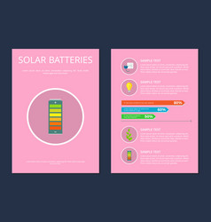 solar batteries set posters vector image