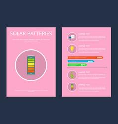 solar batteries set posters vector image