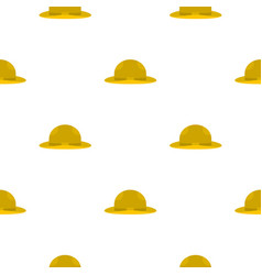 Summer hat pattern flat vector