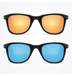 Sunglasses hipster style vector