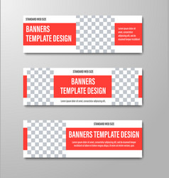 templates web banners with a color rectangle and vector image
