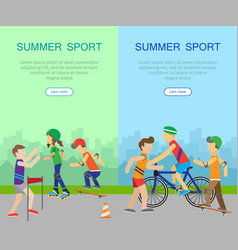 Two summer sport banners vector