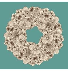 Vintage flowers garland vector