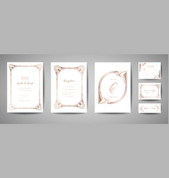 vintage wedding save the date invitation cards vector image
