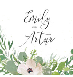 wedding invitation invite save date card vector image