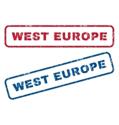 West Europe Rubber Stamps vector