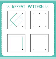Working page for children repeat pattern vector