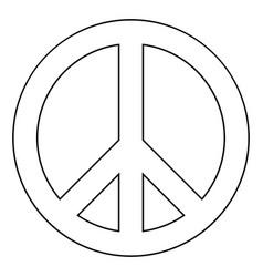 World peace sign symbol icon black color vector