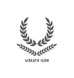 wreath icon simple flat style vector image