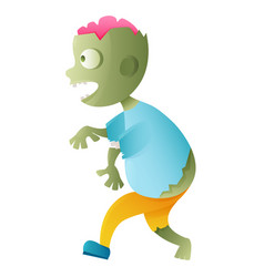 Zombie cute cartoon character vector