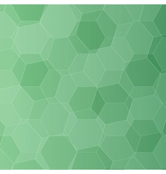 Background with green honeycombs vector image vector image