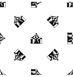 circus tent pattern seamless black vector image vector image