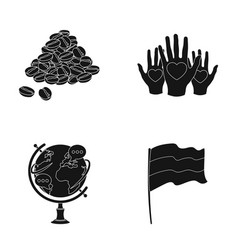 Country cooking and or web icon in black style vector