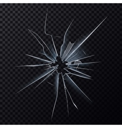 Crushed mirror or broken surface of glass vector