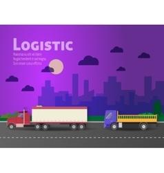 Design for banner truck vector image vector image