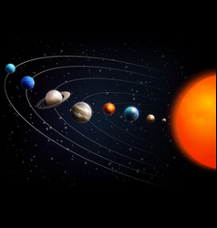 Realistic space background vector