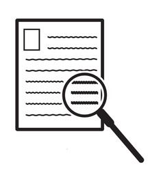 search document icon on white background file vector image vector image