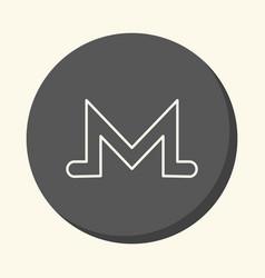 symbol of digital crypto currency monero vector image vector image