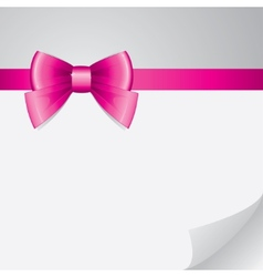background with bow vector image vector image