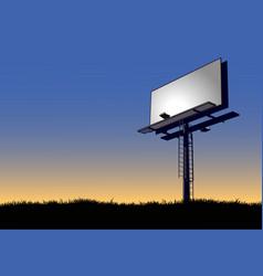 billboard at dawn vector image vector image
