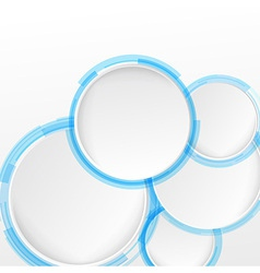 Bright blue circle design elements vector image
