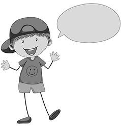 Little boy with bubble speech vector image