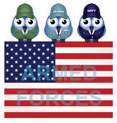 ARMED FORCES USA vector image vector image