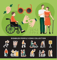 disabled person colored composition vector image