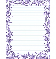 doodles frame vector image vector image