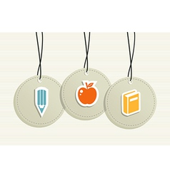 Hanging school badges elements vector image