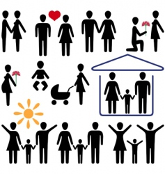 love and family vector image vector image