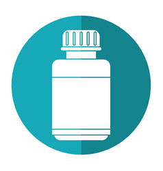 medicine bottle capsule icon shadow vector image vector image