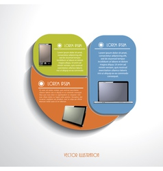 Modern Infographics template with computer devices vector image