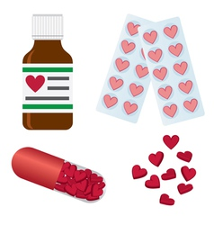 set of medical pills vector image vector image