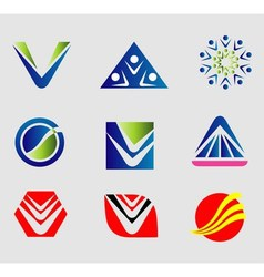 Sign Abctract logo set vector image vector image