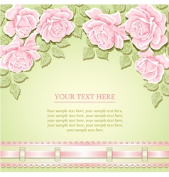 Vintage background with roses vector