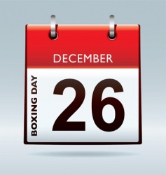 boxing day calendar vector image