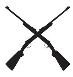 Crossed rifle vector