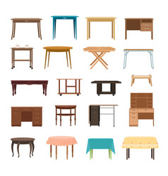 furniture table isolated on white background vector image vector image