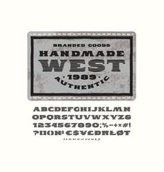 handmade striped serif font vector image vector image