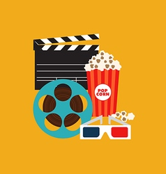 Movie poster flat design vector image