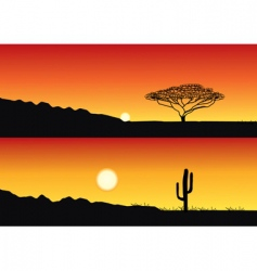 savanna vector image
