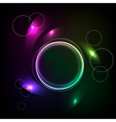 Abstract background with the ball and the color el vector image