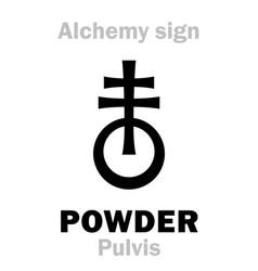 Alchemy powder pulvis vector